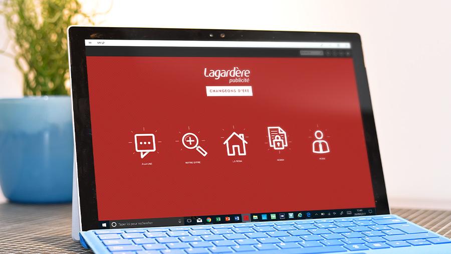 Une application de présentation commerciale réalisée par ComNext pour Lagardère Publicité