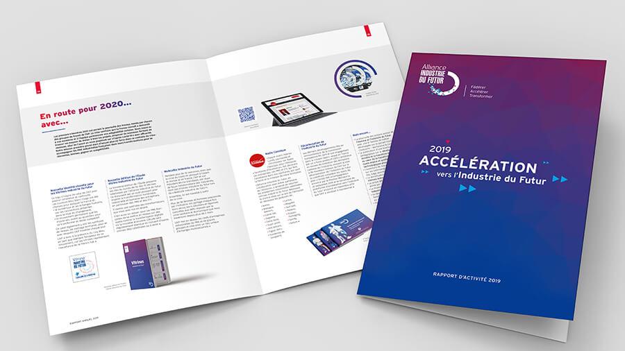 Le Rapport d'Activité 2019 de l'Alliance Industrie du Futur conçu par Comnext