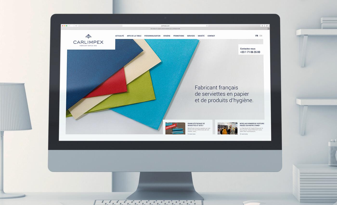 carlimpex - fabricant de serviette - site internet vitrine