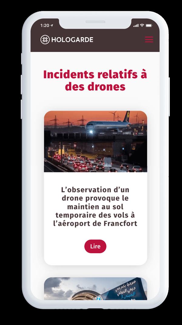 Site internet hologarde - protection de site sensible par drone
