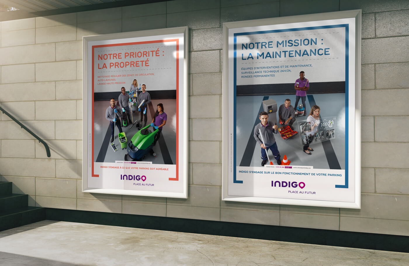 indigo - parking - publicité - affiche