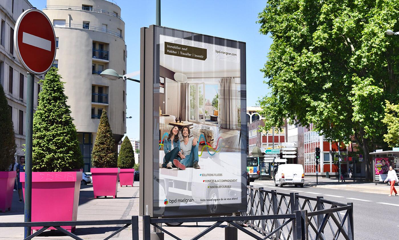BPD marignan - promoteur immobilier - publicité - affiche