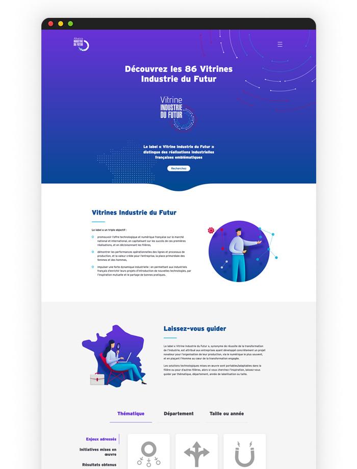 Site internet - vitrine industrie du futur - homepage