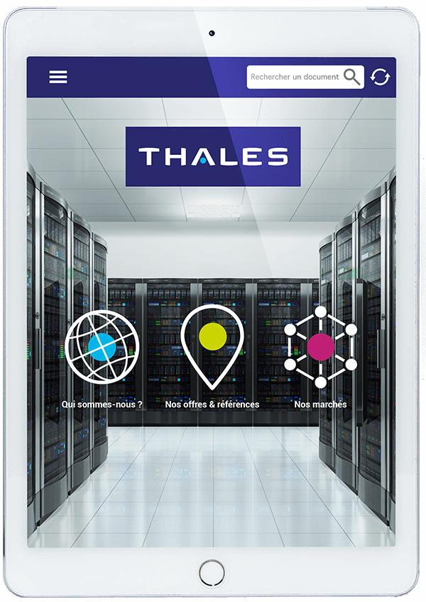 Thales - application d'aide vente sur tablette pour commerciale