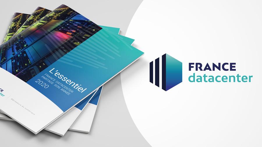 comnext agence de communication paris - site internet, motion design - communication financière - rapport france datacenter - l'essentiel 2020 - couverture