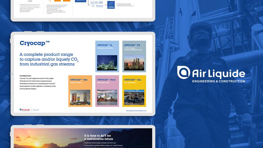 agence de communication à paris secteur de l'industrie - nouvelle plaquette digital pour air liquide